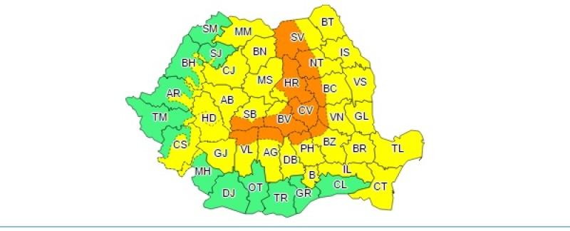 Avertizare Cod Galben pentru județul Botoșani: Vreme deosebit de rece și lapoviță!