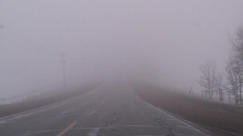 Aveți grijă cum conduceți. Ceață de cod galben în nordul Moldovei