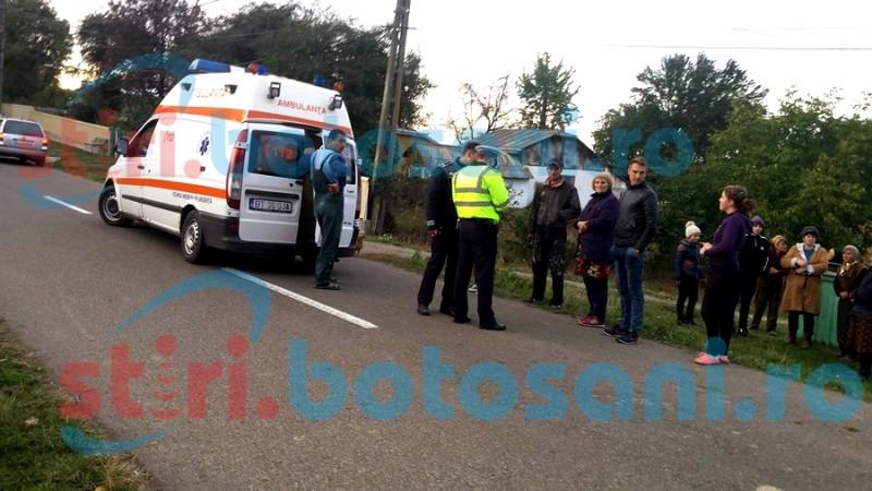 Bărbat accidentat de un autoturism, la Vlădeni! Șoferul a fugit imediat după impact! FOTO