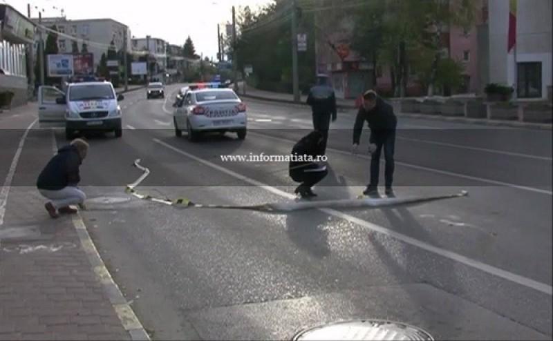 Barbat batut cu bestialitate in plina strada de un tanar din Botosani! A fost lasat intr-o balta de sange!