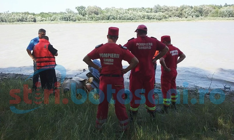 Bărbat dispărut în apele râului Prut, la Manoleasa, în timp ce căuta scoici! FOTO, VIDEO