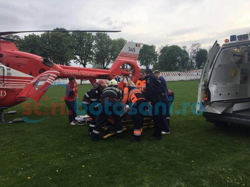 Bărbat în comă, preluat de elicopterul SMURD de la Dorohoi!