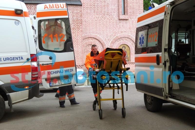 Bărbăt în stare gravă, trimis cu ambulanța la Iași!