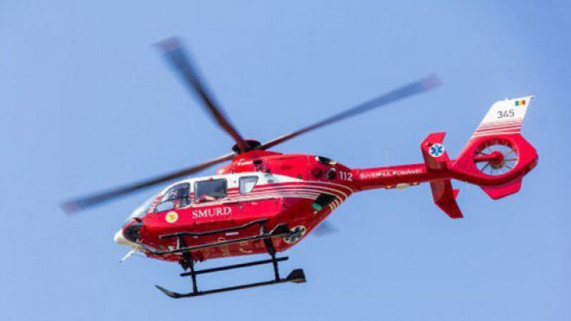 Bărbat în vârstă de 51 de ani din Dorohoi transportat de urgență cu elicopterul SMURD la Iași