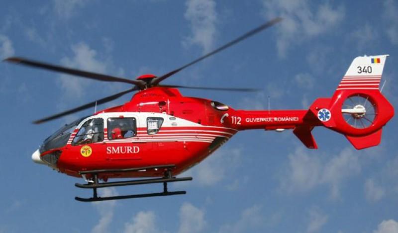 Bărbat în vârstă de 82 de ani din Dorohoi transportat de urgență cu elicopterul SMURD la Iași