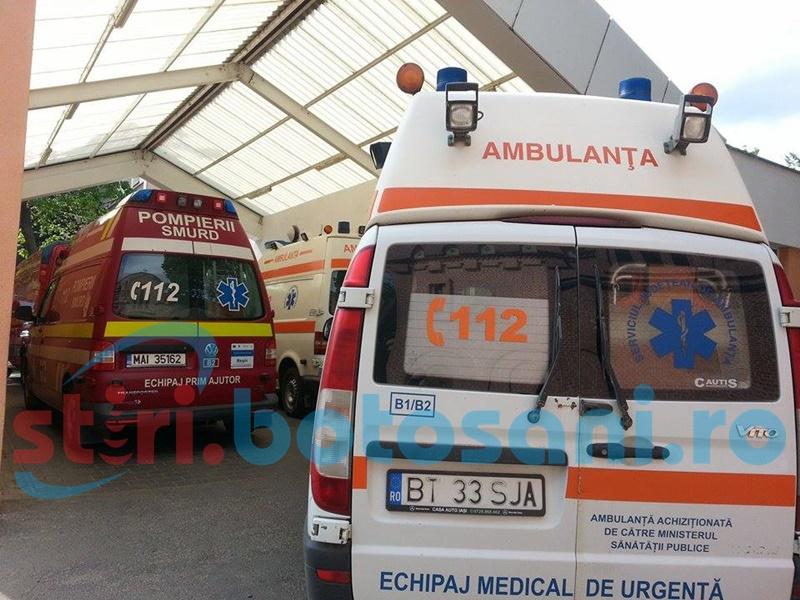 Bărbat transportat la spital, după ce s-a tăiat cu flexul