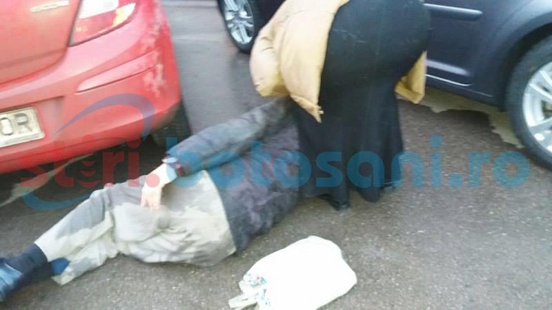 Bărbat trântit pe asfalt, de o maşină, pe trecerea de pietoni! FOTO
