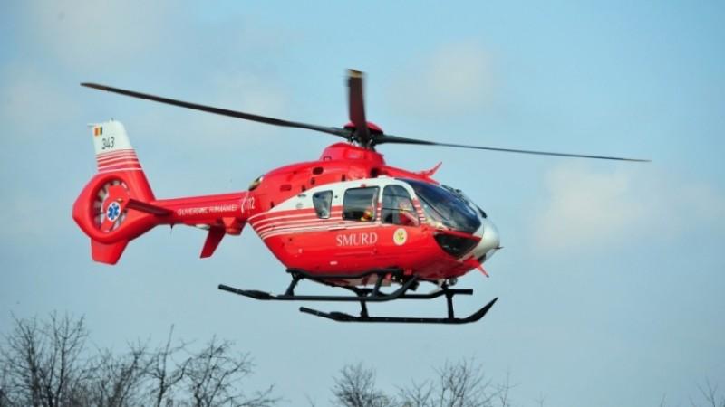Bărbatul ars pe 35% din suprafața corpului a fost trimis cu elicopterul la Brașov!