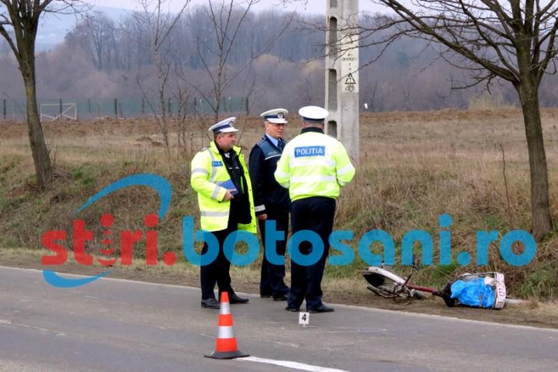 Barbatul cazut de pe bicicleta, la Drislea, a fost trimis la Iasi