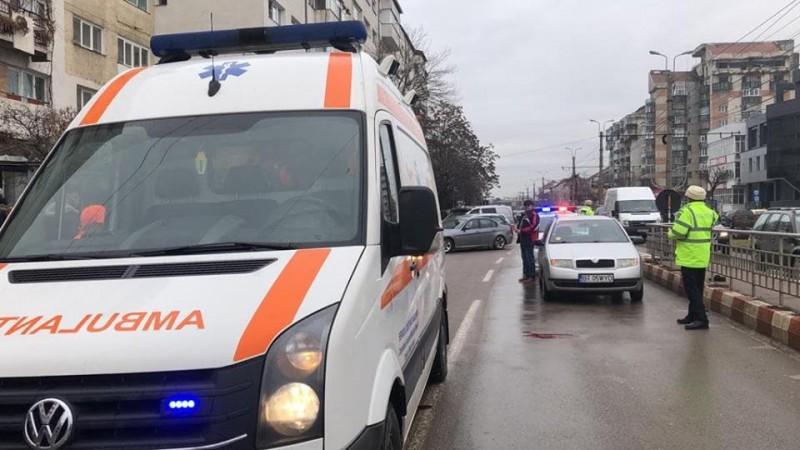 Bătrân rănit într-un accident produs vineri în municipiul Botoșani! FOTO