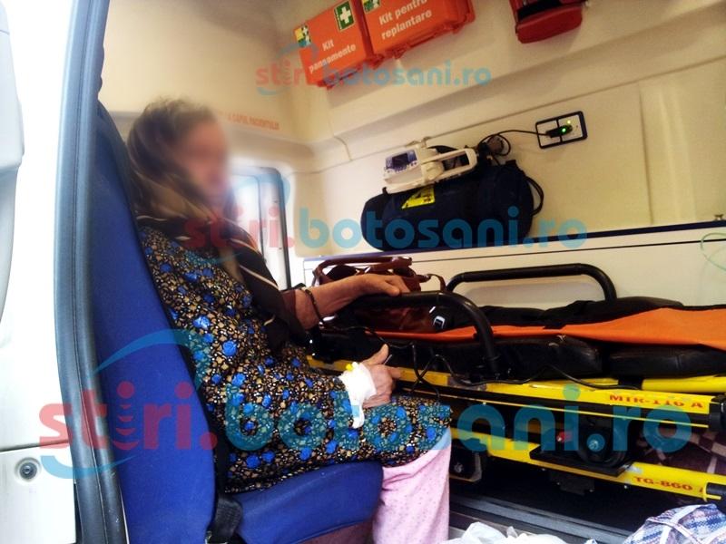 Bătrână rănită grav, după un accident stupid