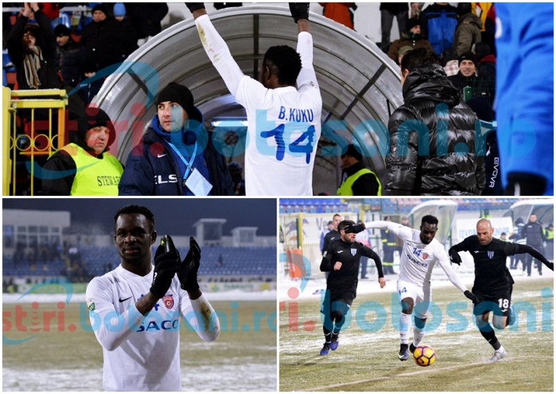 """Benjamin Kuku, """"ASUL"""" lui Grozavu in meciul cu Craiova, intrat deja in inimile botosanenilor! VIDEO"""