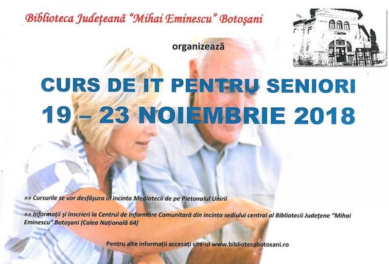 Biblioteca Botoșani reia cursurile de IT pentru seniori!