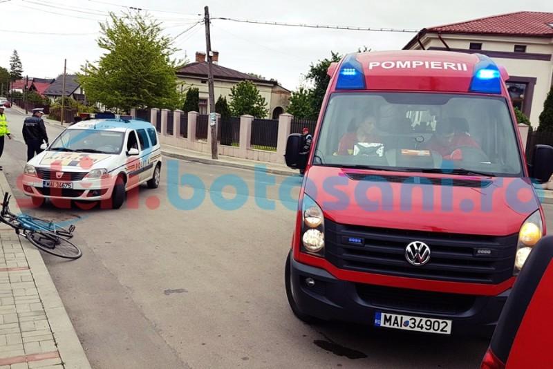 Biciclist ranit intr-un accident rutier, pe strada Victoriei! FOTO