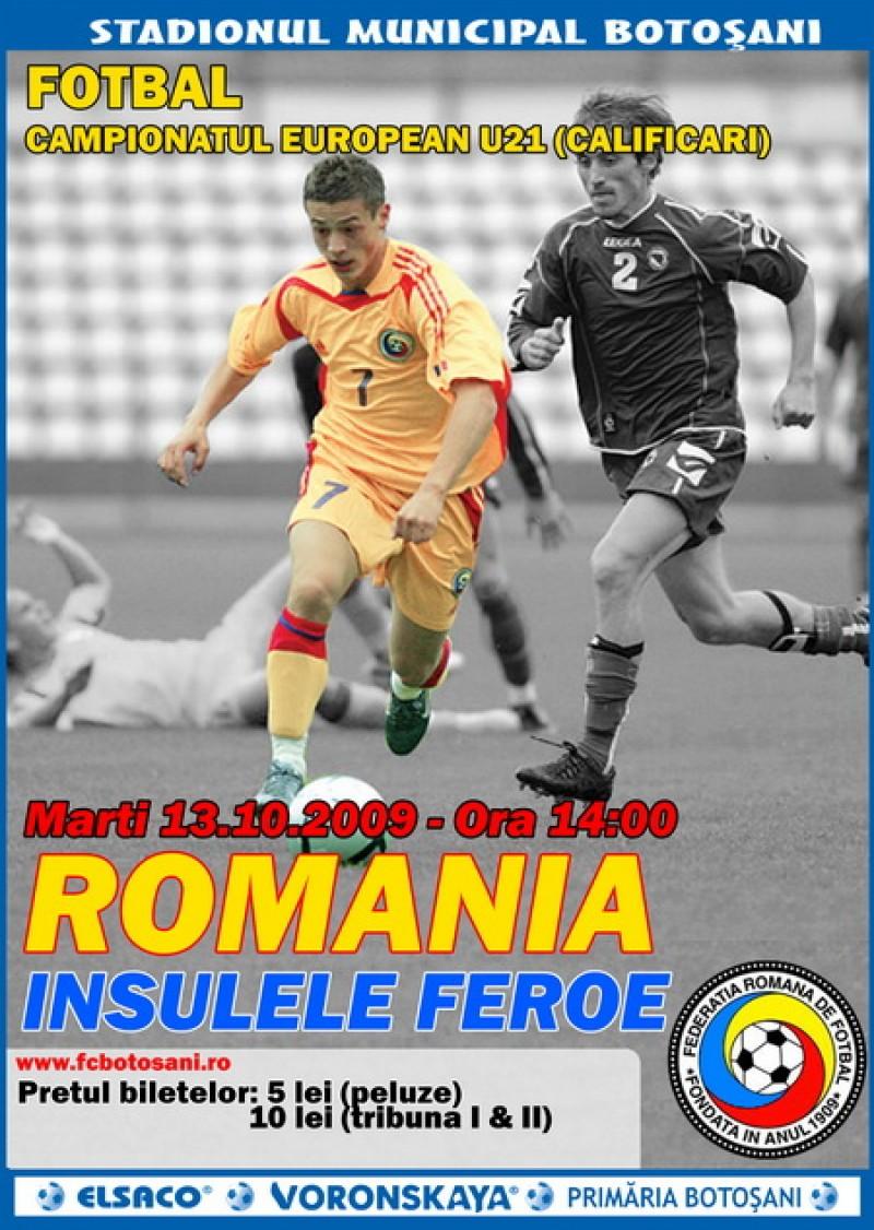 Bilete pentru meciul Romania (U21) - I.Feroe (U21)