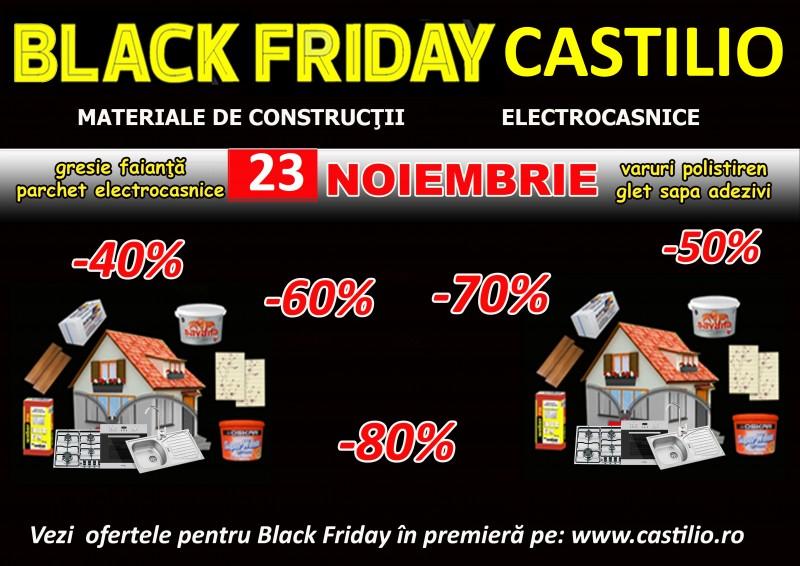 Black Friday 2018. Ce reduceri găsești la CASTILIO pe 23 noiembrie