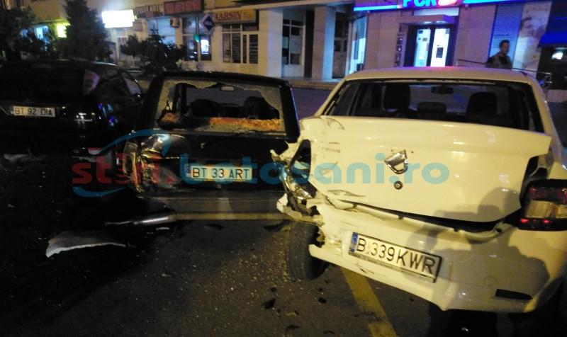 Șoferul care a distrus trei mașini, pe Calea Națională, s-a prezentat la poliție