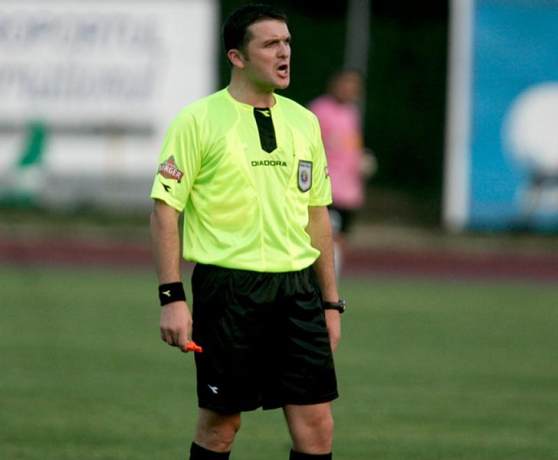 Bogdan Hanceariuc va arbitra partida Gloria Buzau - FC Botosani