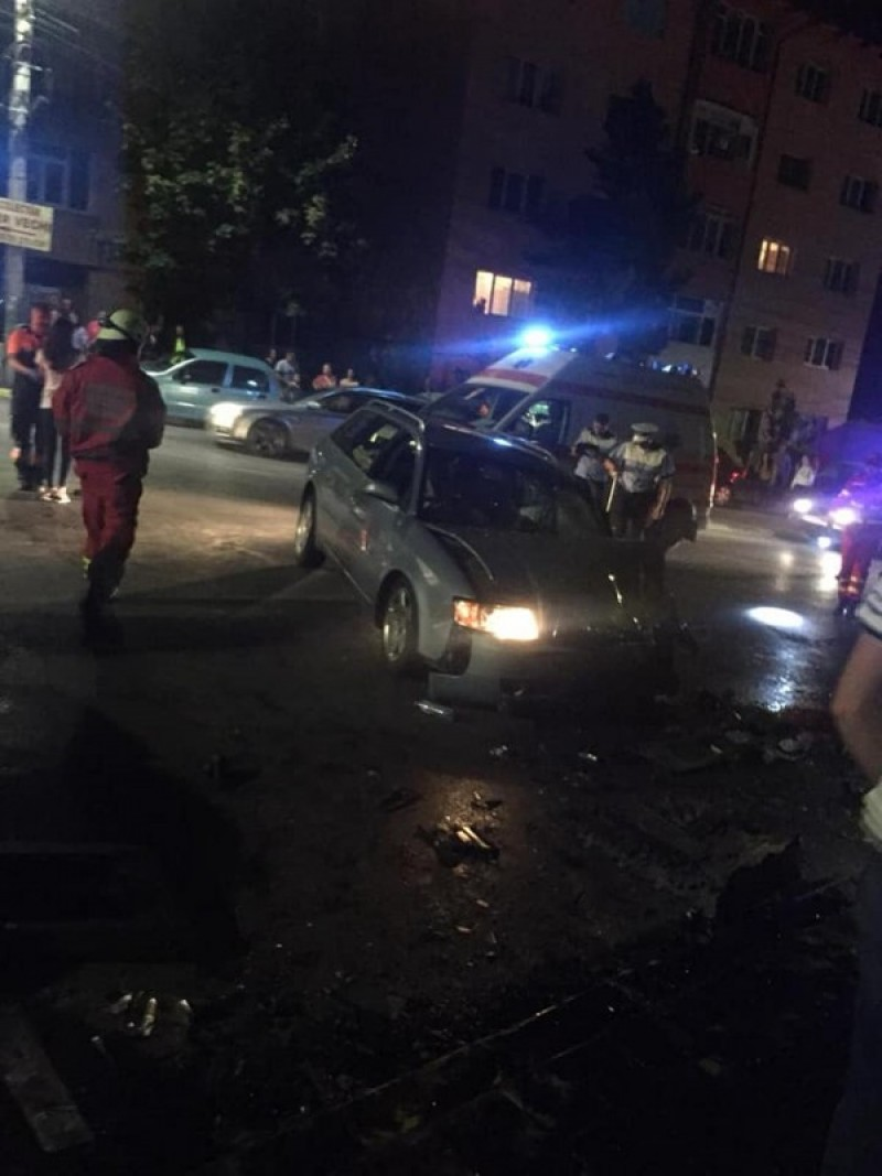 Botoșănean implicat într-un accident rutier, din cauza unui șofer beat!