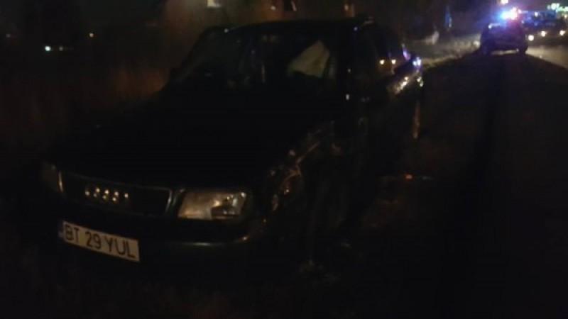 Botoșănean implicat într-un accident rutier: Impact violent între trei mașini, la ieșirea din Suceava! FOTO