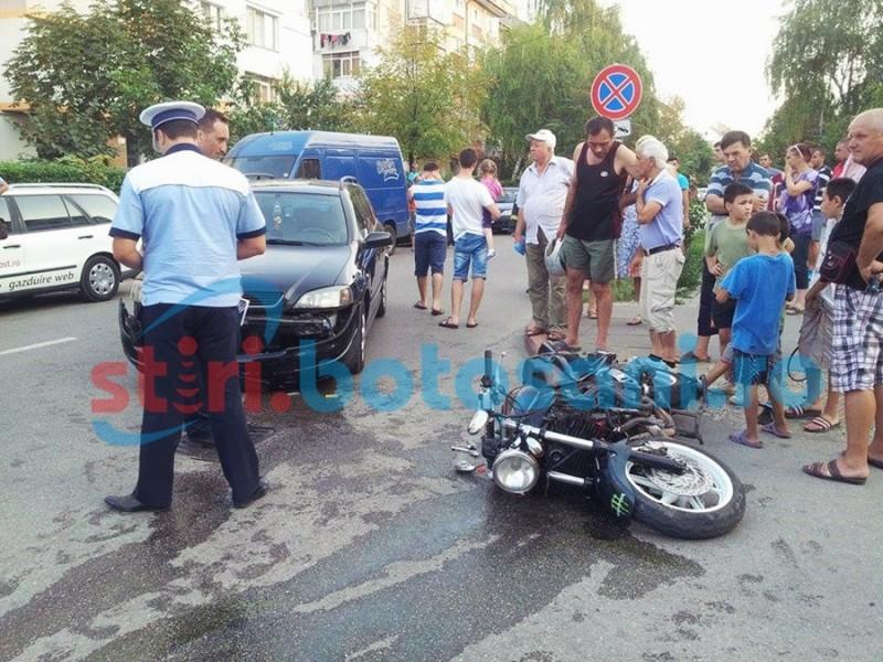 Botoşănean judecat pentru vătămarea unui motociclist
