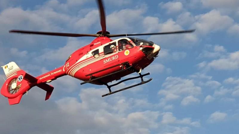 Botoșănean trimis la Iași cu un elicopter SMURD, după ce a suferit un infarct