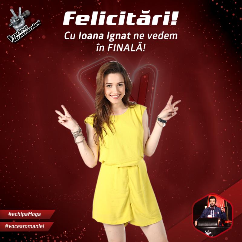 Botoșăneanca Ioana Ignat s-a calificat in FINALA concursului Vocea Romaniei - VIDEO