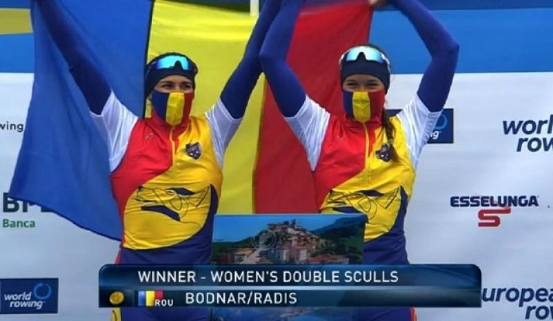 Botoșăneanca Simona Geanina Radiş și Nicoleta-Ancuţa Bodnar, medalie de aur pentru delegația României la Campionatele Europene de canotaj