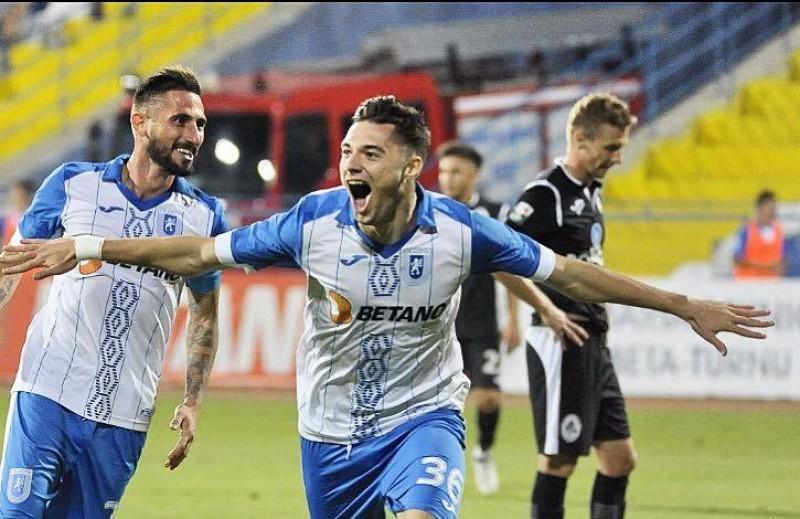 Botosaneanul Andrei Burlacu, eroul Craiovei in derby-ul cu Dinamo: gol si pasa de gol la 0-2 pentru adversari - VIDEO
