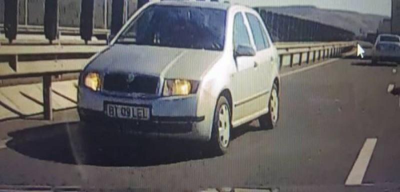 Botoşăneanul care a condus pe contrasens, pe autostradă, identificat de poliţişti!