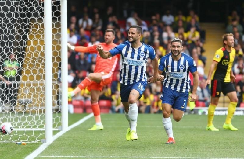Botoșăneanul Florin Andone marchează pentru Britghton în meciul cu Watford din Premier League la prima atingere a balonului! VIDEO