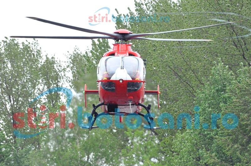 Botoşăneni salvaţi de elicopterul SMURD pe vremea rea
