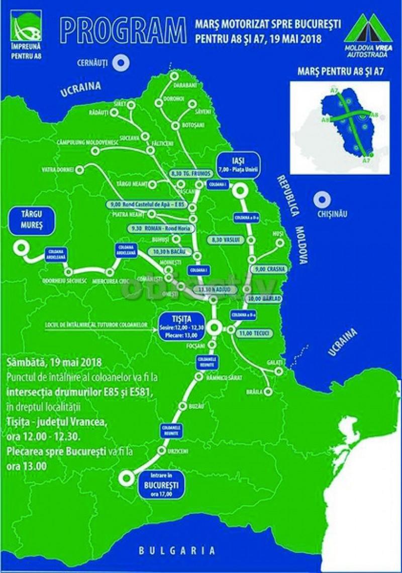 Botoșănenii vor autostradă. Sâmbătă, cel mai mare marș auto de protest din Moldova până la București!