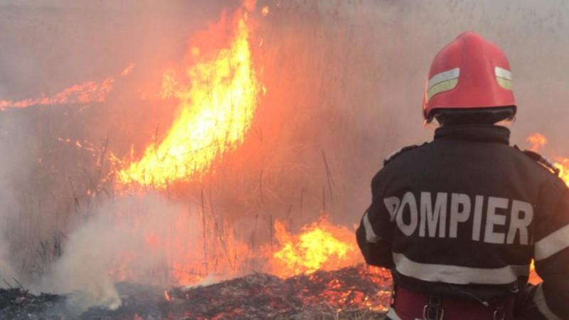 Botoșani: 16 incendii în ultimele două zile