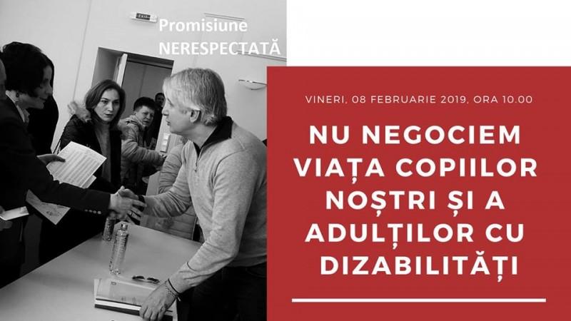 Botoșani: Părinții copiilor cu dizabilități și adulții cu dizabilități ies în stradă!