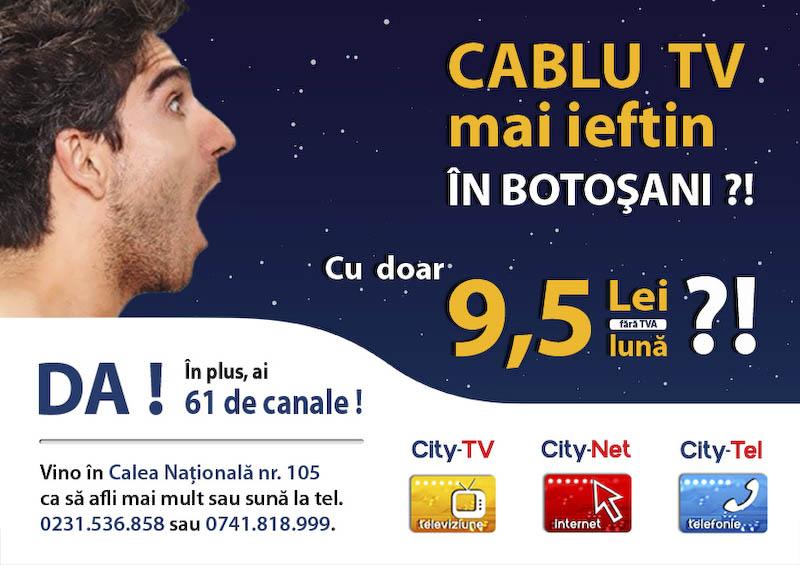 CABLU TV, INTERNET si TELEFON - Oferta careia nu ii poti rezista!