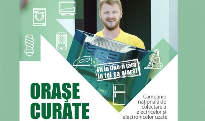 """Campania de colectare deșeuri electrice """"Orașe Curate"""" ajunge și în județul Botoșani"""