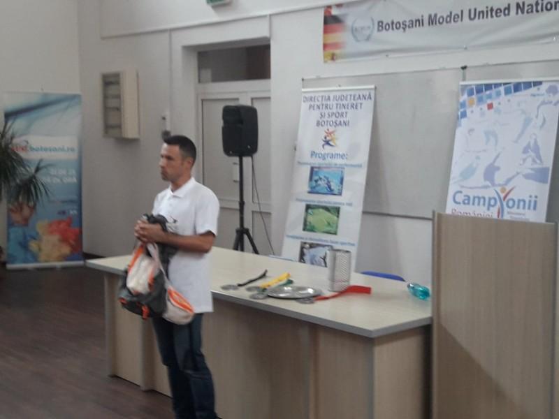 Campionul Iulian Rotariu, în dialog cu laurienii - FOTO