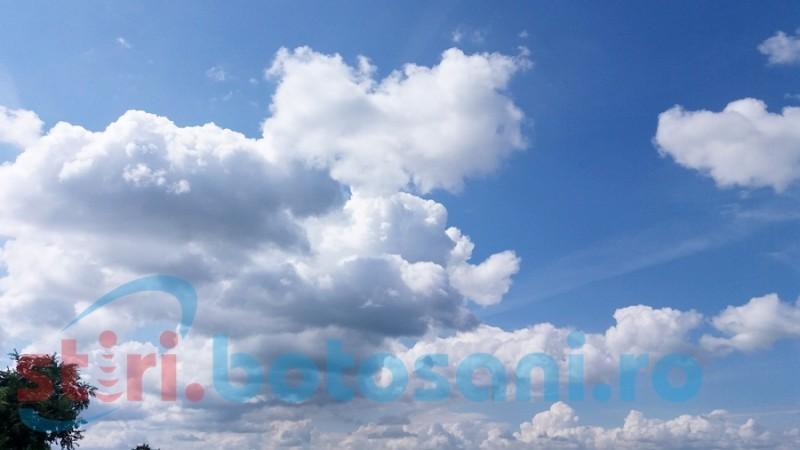 Canicula se domoleşte la Botoşani! Estimări meteorologice pentru următoarele zile din luna lui Cuptor