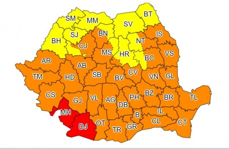 Canicula va afecta în continuare judeţul Botoşani, plasat de meteorologi sub cod galben