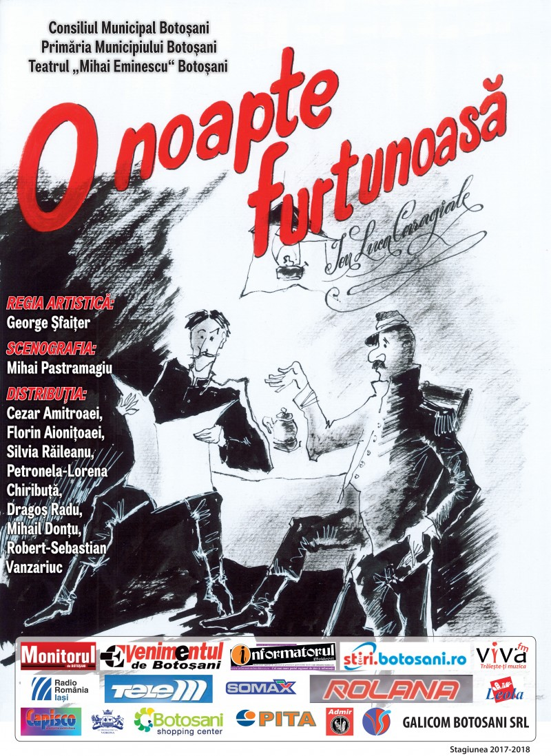 Caragiale și Visul american, atracții de weekend la Teatrul Eminescu Botoșani!