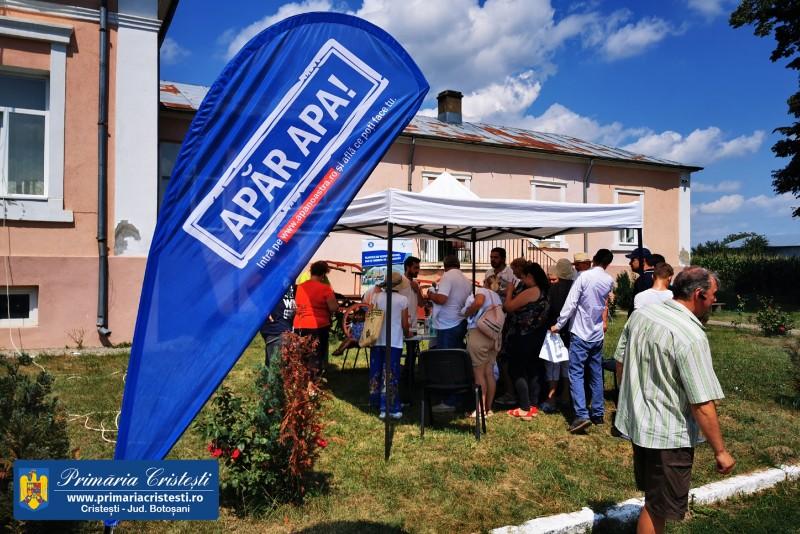 """Caravana """"Apăr Apa"""" a ajuns în comuna Cristești (fotogalerie)"""