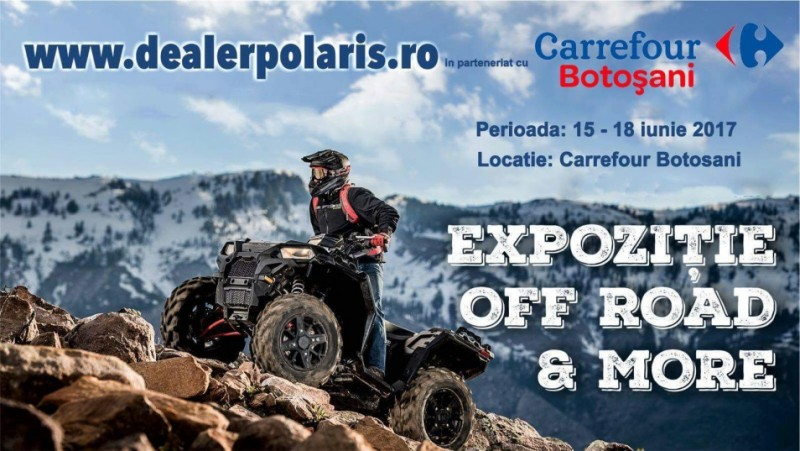 Caravana Off-Road Polaris la Carrefour Botosani