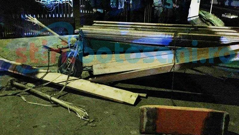 Căruță izbită de un autoturism condus de un șofer băut! Un bărbat a fost rănit! FOTO