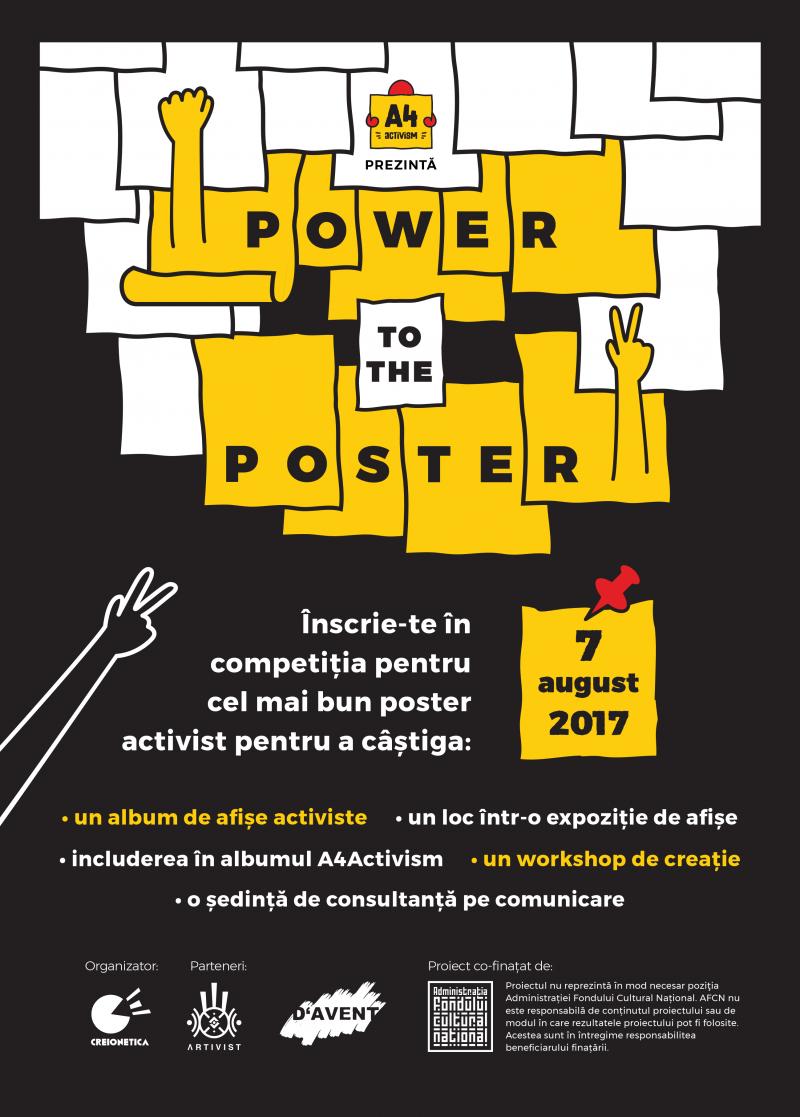 Câștigătorii concursului Power to the Poster