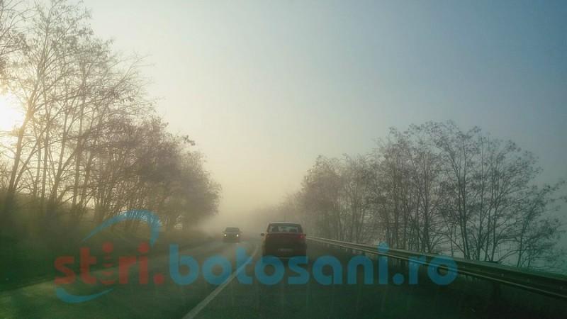 Ceață densă peste Botoşani! Meteorologii au anunţat cod galben