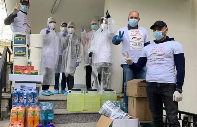 Centrul de Transfuzie Botoșani a primit o donație de materiale pentru menținerea igienei pentru personalul medical și donatorii de sânge