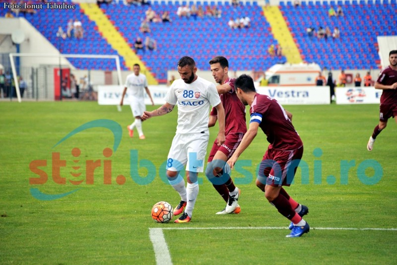 CFR Cluj castiga pe final de meci, in fata Botosaniului, dupa o executie frumoasa a lui Larie