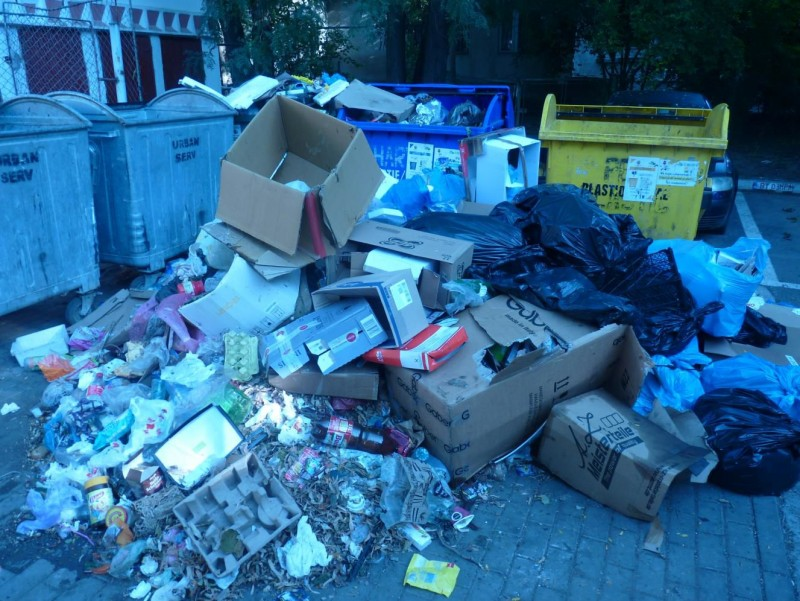 Cine-a pus gunoiu-n drum? Polițiștii locali au aflat și au împărțit amenzi! FOTO