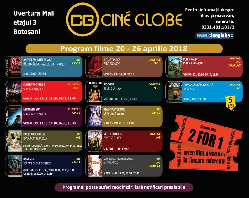 Cine Globe aduce la Botoșani cel mai așteptat film al acestei primăveri!